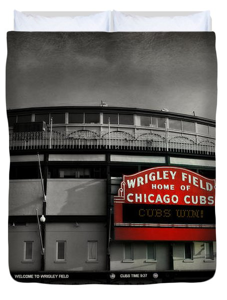 Wrigley Field Home Of The Chicago Cubs Duvet Cover