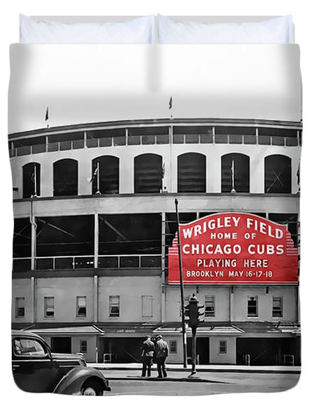 Wrigley Field - Home Of The Cubs C. 1939 Duvet Cover