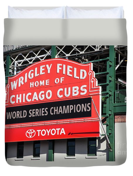 Wrigley Field Marquee Duvet Cover