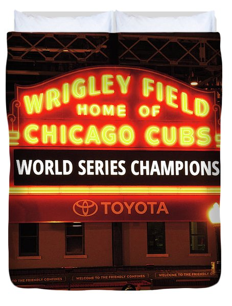 Chicago Cubs World Series Duvet Cover