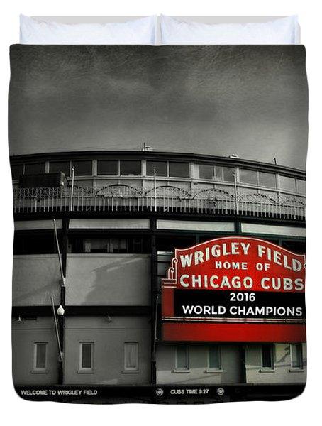 Wrigley Field Duvet Cover