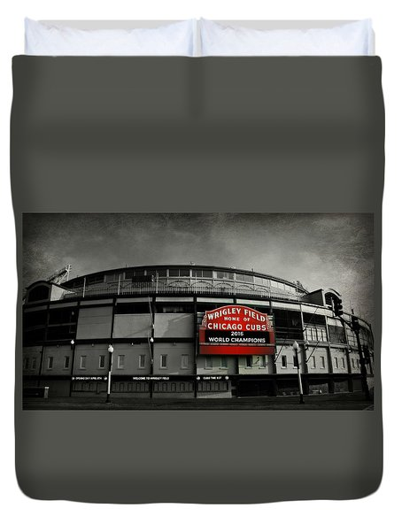 Wrigley Field Duvet Cover by Stephen Stookey