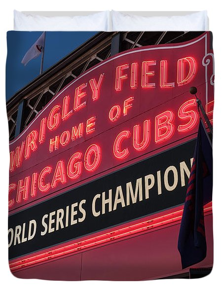 Wrigley Field World Series Marquee Duvet Cover