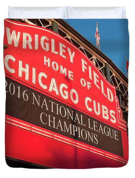 Wrigley Field Marquee Angle Duvet Cover