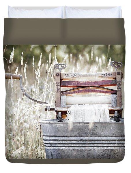Wringer Washer - Retro Matte Duvet Cover