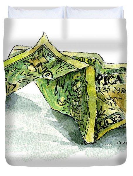 Wrinkled Dollar Duvet Cover
