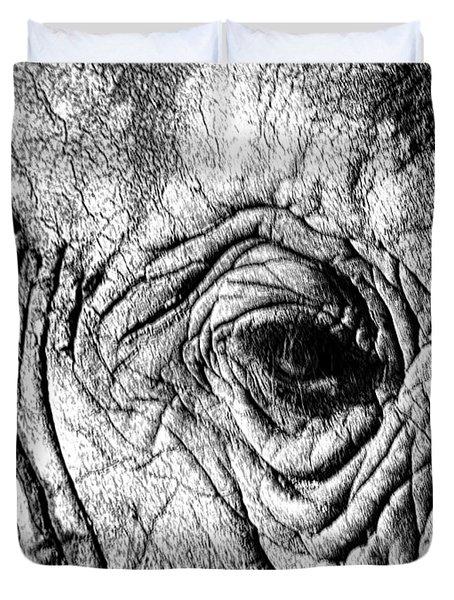 Wrinkled Eye Duvet Cover by Douglas Barnard