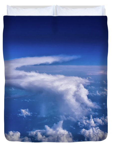 Writing In The Sky Duvet Cover
