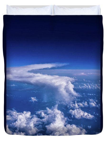 Writing In The Sky Duvet Cover