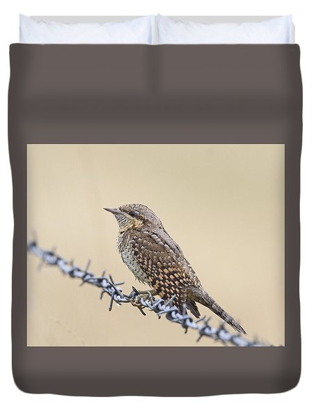 Wryneck On Wire Duvet Cover