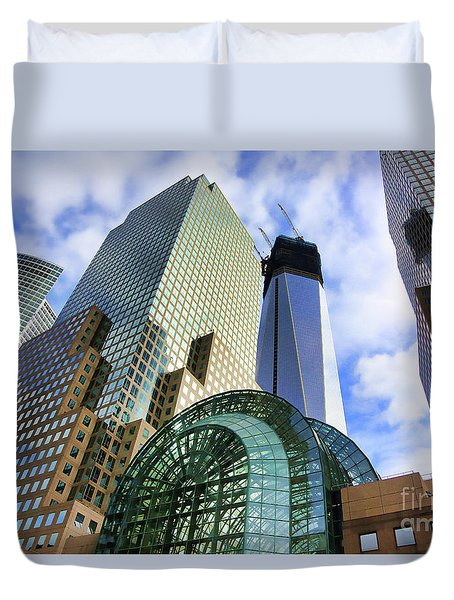 Wtc Nyc Construction I Duvet Cover