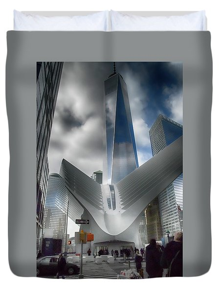 Wtc Oculus - Freedom Tower Duvet Cover