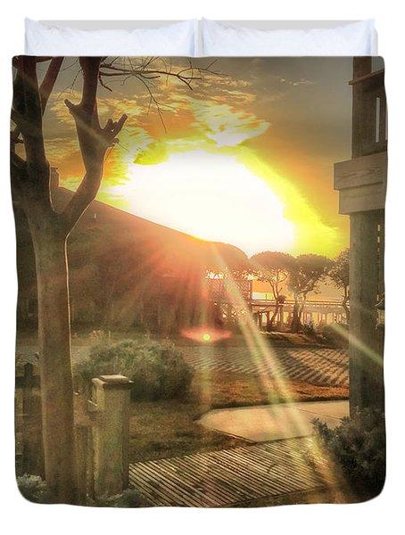 Duvet Cover featuring the photograph Wu Wu's Beach by Phil Mancuso