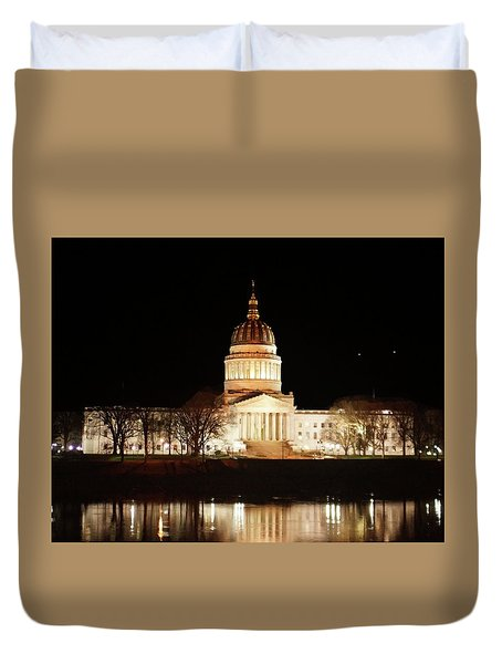 Wv Capital Building Duvet Cover by B Wayne Mullins