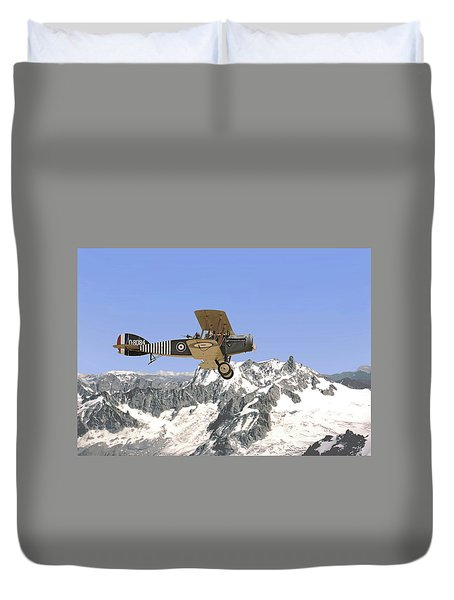 Duvet Cover featuring the photograph Ww1 - Bristol Fighter by Pat Speirs