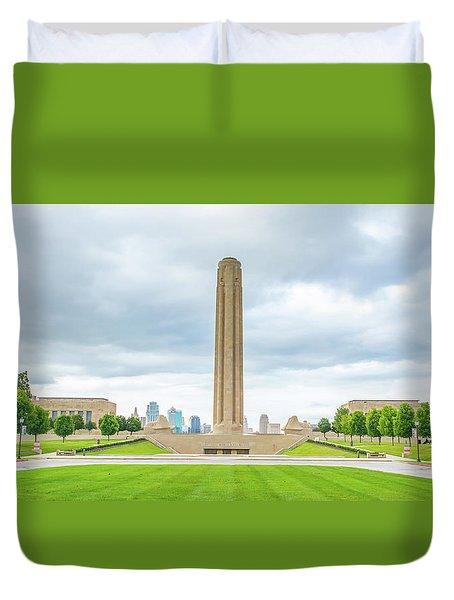 Ww1 Memorial Kansas City Duvet Cover by Pamela Williams