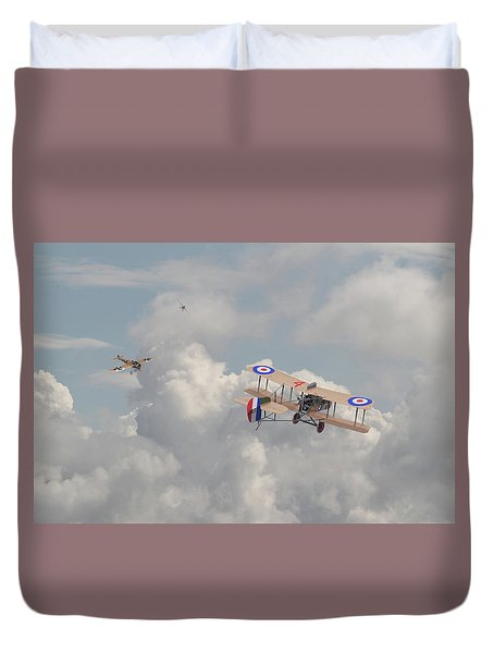 Duvet Cover featuring the photograph Ww1 - The Fokker Scourge - Eindecker by Pat Speirs