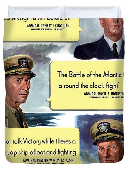 Ww2 Us Navy Admirals Duvet Cover