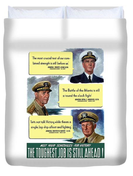 Ww2 Us Navy Admirals Duvet Cover by War Is Hell Store