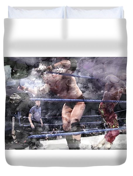 Wwe Wrestling 124 Duvet Cover