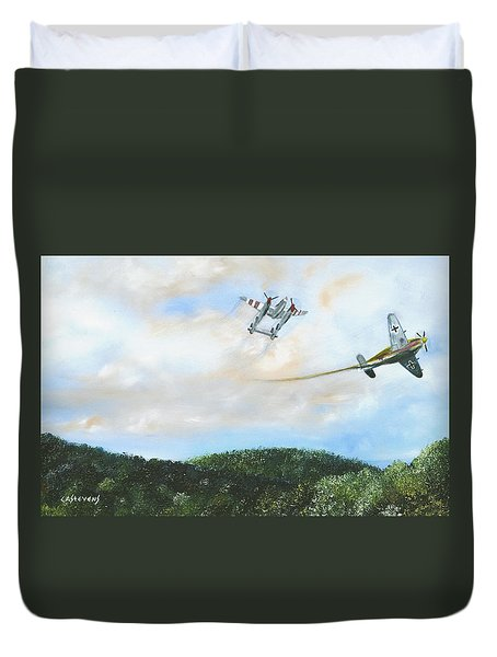 Wwii Dogfight Duvet Cover