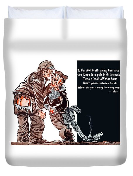 Wwii Joe Dope Cartoon Duvet Cover