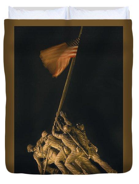 Iwo Jima Remembrance Duvet Cover