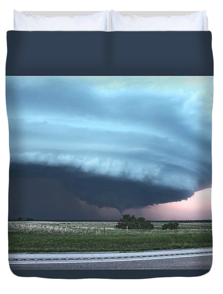 Duvet Cover featuring the photograph Wynnewood Tornado by James Menzies