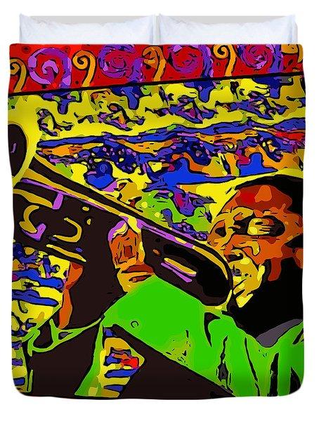 Wynton Marsalis Plays Louis Armstrong Rework Duvet Cover