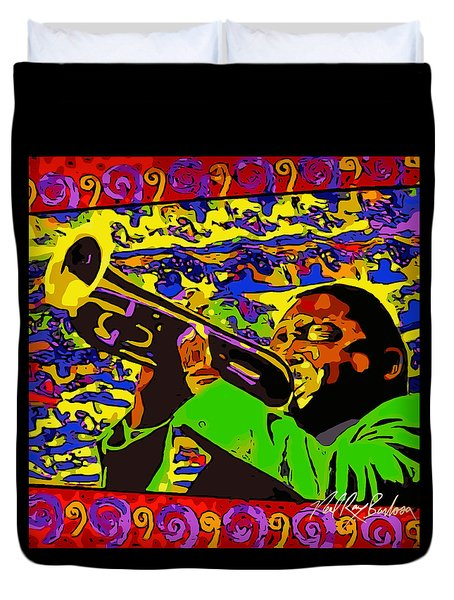 Wynton Marsalis Plays Louis Armstrong Rework Duvet Cover