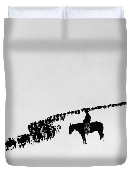 Wyoming: Cattle, C1920 Duvet Cover