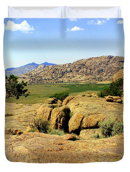 Wyoming Landscape Duvet Cover by Marty Koch