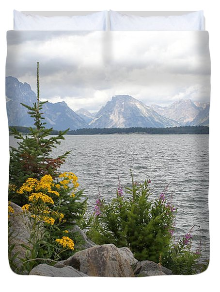 Wyoming Mountains Duvet Cover