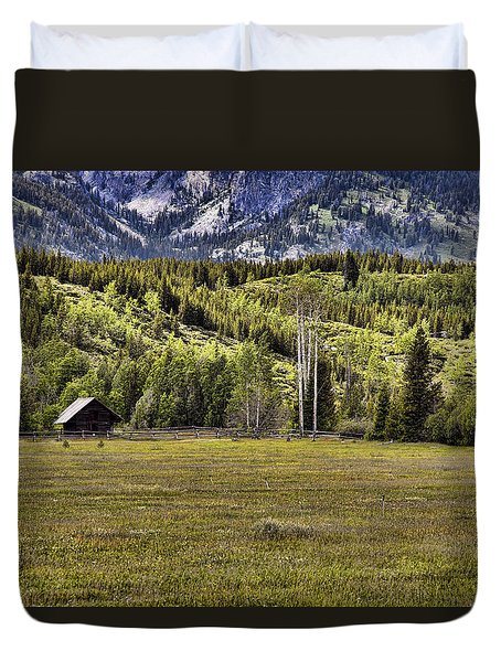 Wyoming Ranch Duvet Cover by Hugh Smith