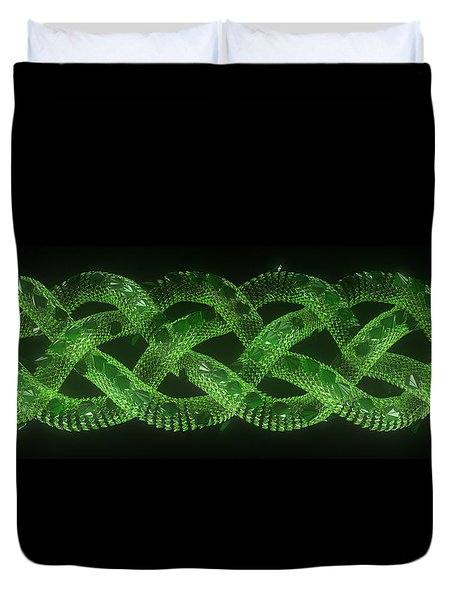 Wyrm - The Celtic Serpent Duvet Cover
