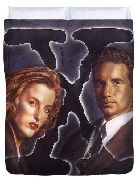 X-files Duvet Cover by Timothy Scoggins