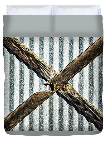Duvet Cover featuring the photograph X Marks The Spot by Karol Livote