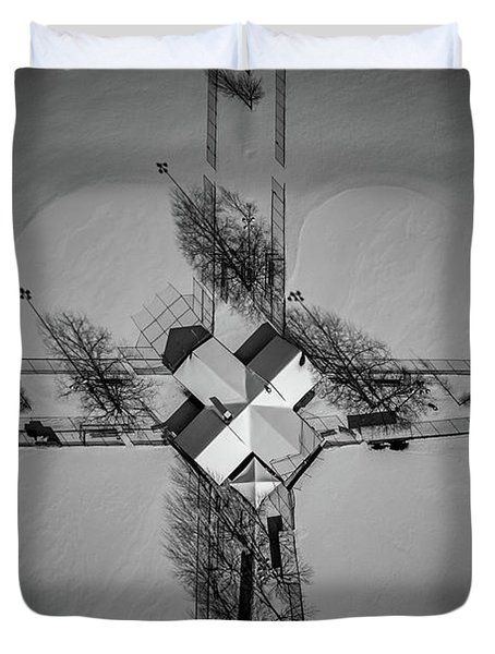 X Marks The Spot Duvet Cover
