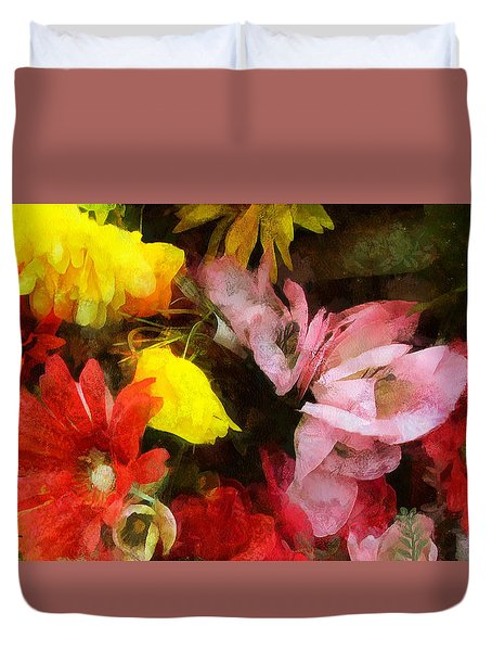 Xtreme Floral Nineteen Powerful In Pink Duvet Cover