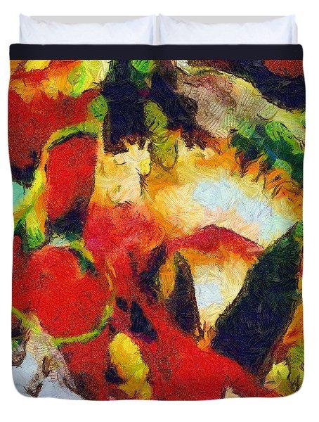 Xtreme Floral Four Duvet Cover by Spyder Webb