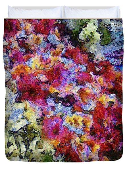 Xtreme Floral Five Cascade Duvet Cover by Spyder Webb