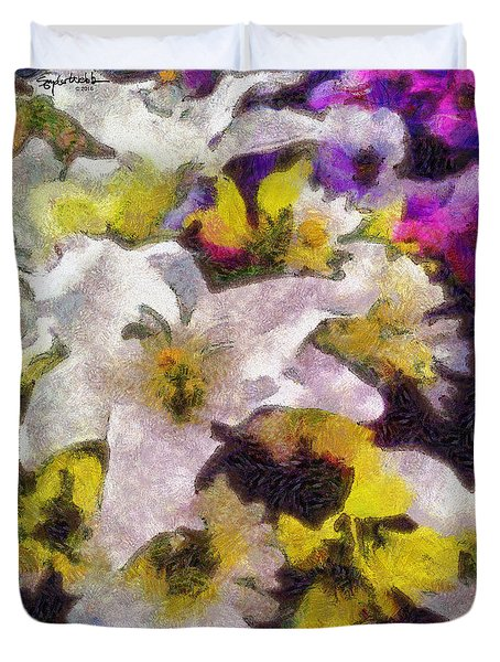 Xtreme Floral Six The White Star Duvet Cover