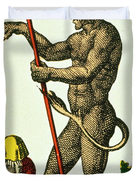 Xv The Devil   Tarot Card Duvet Cover