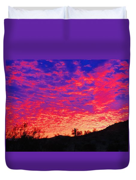 Y Cactus Sunset 1 Duvet Cover