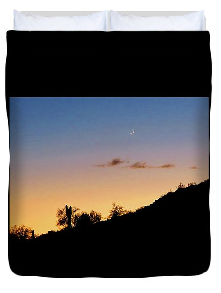 Y Cactus Sunset Moonrise Duvet Cover