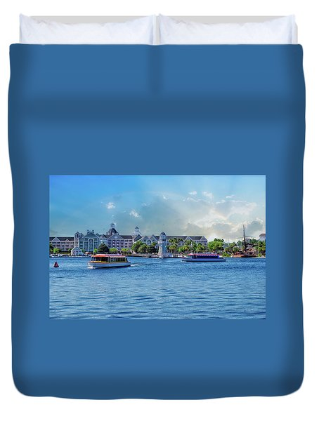 Yacht And Beach Club Walt Disney World Duvet Cover by Thomas Woolworth
