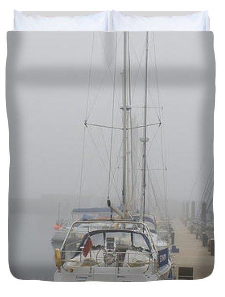Yacht Doesn't Go In The Fog Duvet Cover