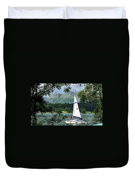 Yachting Lake Windermere Duvet Cover