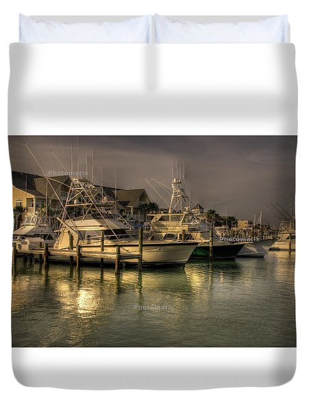 Yachts In Hdr Duvet Cover
