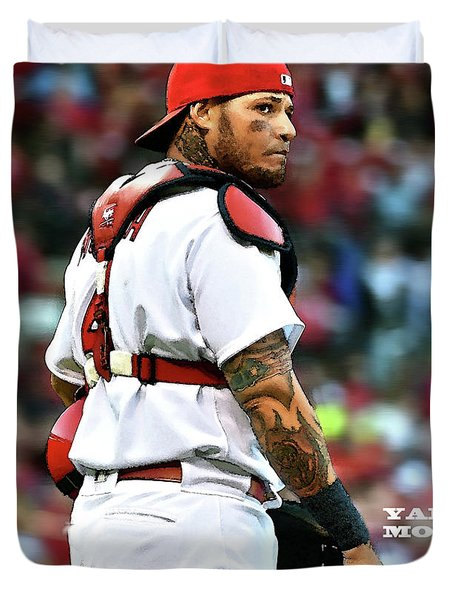 Yadier Molina, St. Louis Cardinals Duvet Cover